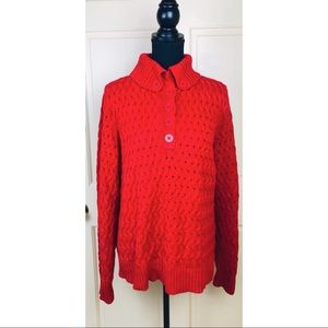 Liz Claiborne cable knit collared sweater